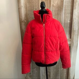 Only red puffer jacket